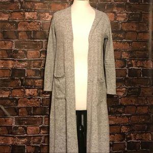 Lularoe Sarah Sweater Duster Heather Gray XS